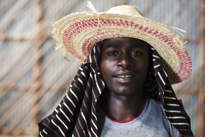 Young coffee farmer in southern Ethiopia.